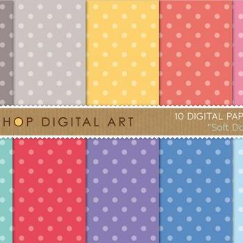 Digital Papers - Soft Dots