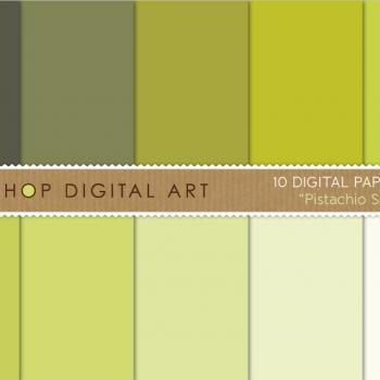 Digital Papers Pistachio Shades 12x12 inches - INSTANT DOWNLOAD - Buy Any 2 Packs Get 1 Free